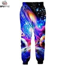 Pantalon Homme уличная одежда брюки Для мужчин Повседневное брюки для бодибилдинга Для мужчин Homme Многоцветная Картина галактические Бегуны