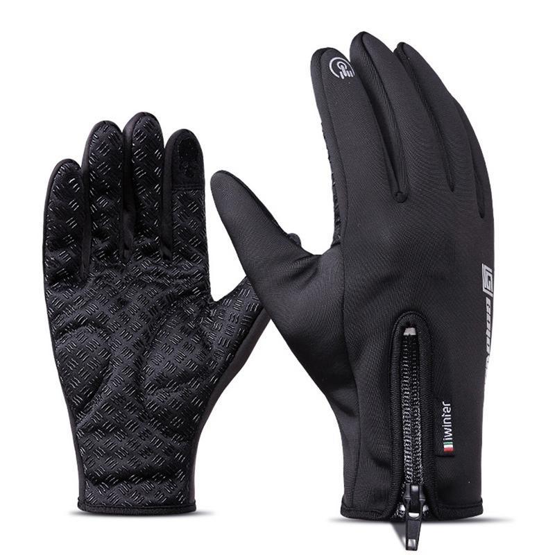 Outdoor Warm Gloves Winter Waterproof Touch Screen Men Women Windproof Riding Fingers Sports Fleece Mountaineering Skiing Gloves