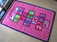 Baby Girls Popular Rug Cartoon Number Print Carpet Lovely Pink Floor Mat for Baby Rugs PlayMat for Living Room Baby Crawling Mat