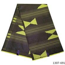 2019 new african wax high quality 100% Polyes fabrics ankara print fabric for women dress 6yards/lot 1307-69