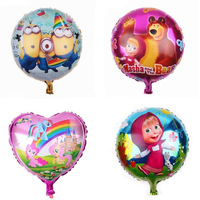 1fc41e28f9f9 TSZWJ Бесплатная доставка Чистый Алюминий фольга воздушные шары мультфильм  шар Свадебные украшения комнаты детская игрушечный воздушный