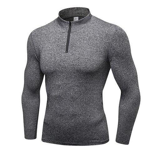 Eshtanga Men reflective shirt sports long shirt Yoga Long Sleeve Shirt Compression outdoor Thick Material Tank