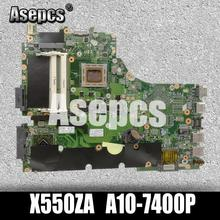 Asepcs X550ZA Scheda Madre Del Computer Portatile per For Asus X550ZA X550ZE X550Z X550 K550Z X555Z VM590Z Prova Mainboard Originale A10-7400P Lvds Gm