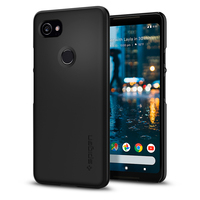 100 Original SPIGEN Google Pixel 2 XL Case Thin Fit Hard Back Cover Black F17CS22285