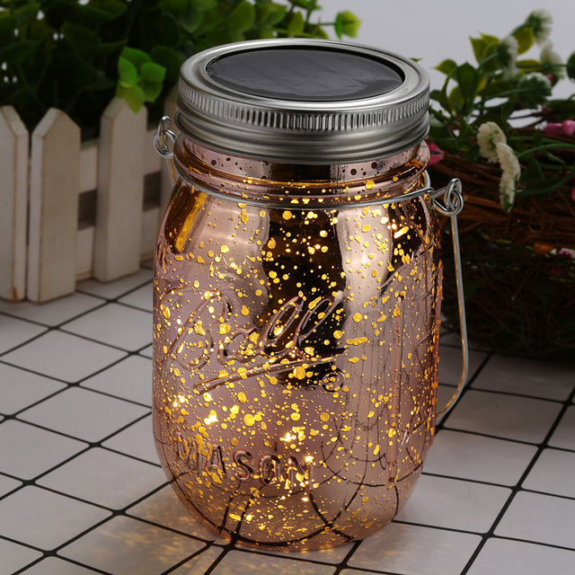 Jar Lamp Firefly Lights 10 Led Solar Ed Lovely Creative Wedding Courtyard Lighting Strings Outdoor Jam Light