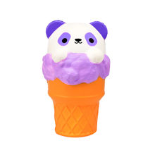 Panda Squish Ice Cream Scented Slow Rising Squishies Toy Furry Stress Relief squishys baratos Fun Kids Slow Rebound squash toys(China)
