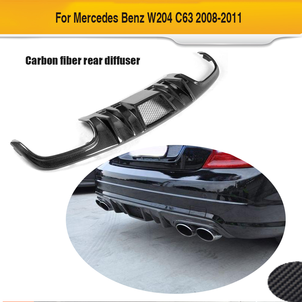 C Class carbon fiber car rear bumper lip diffuser for Mercedes Benz W204 C63 AMG Sedan 4 Door Only 2008 2009 2010 2011 2015 2016 amg style w205 carbon fiber rear trunk spoiler wings for mercedes c class c180 c200 c250 c300 c350 c400 c450 c220