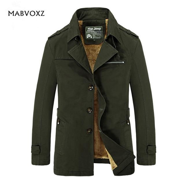 Chaqueta de invierno hombres marca ropa hombres abrigo altura algodón  caliente Nian jeep Militar abrigo adelgazan c9fd18085054