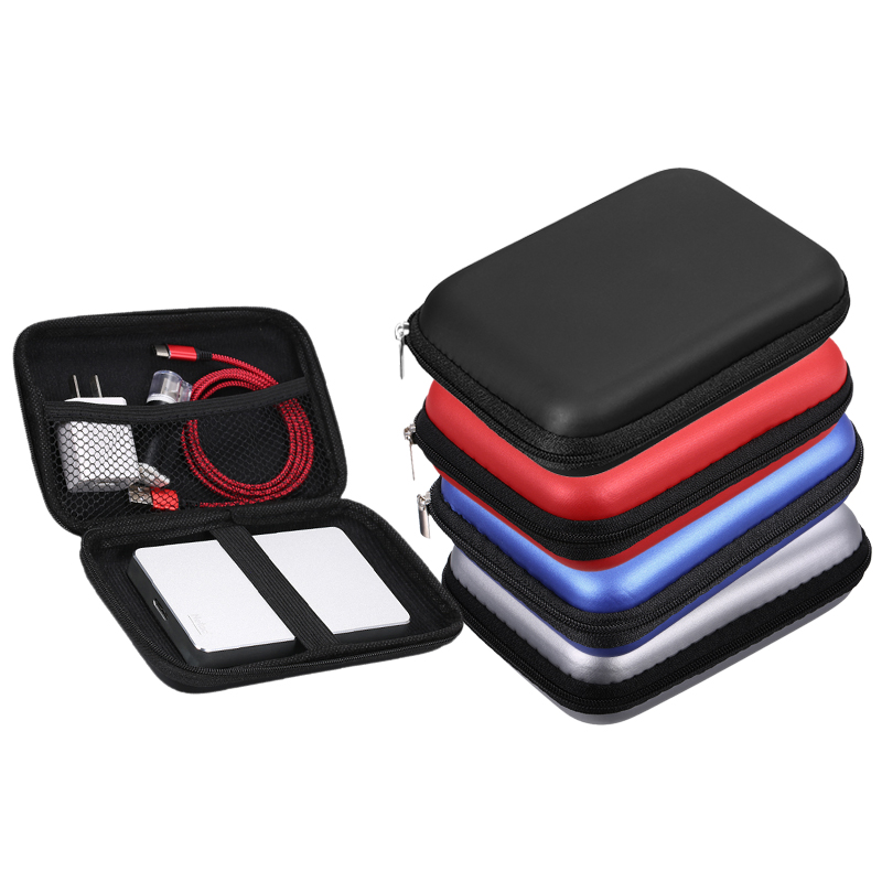 External Storage Eva Shockproof 2.5inch Hard Drive Case Pouch Bag 2.5 External Hdd Power Bank Accessories Hand Carry Travel Case Protect Bag Clearance Price