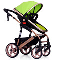 6 Color High landscape stroller ride lying bi folding stroller baby stroller car
