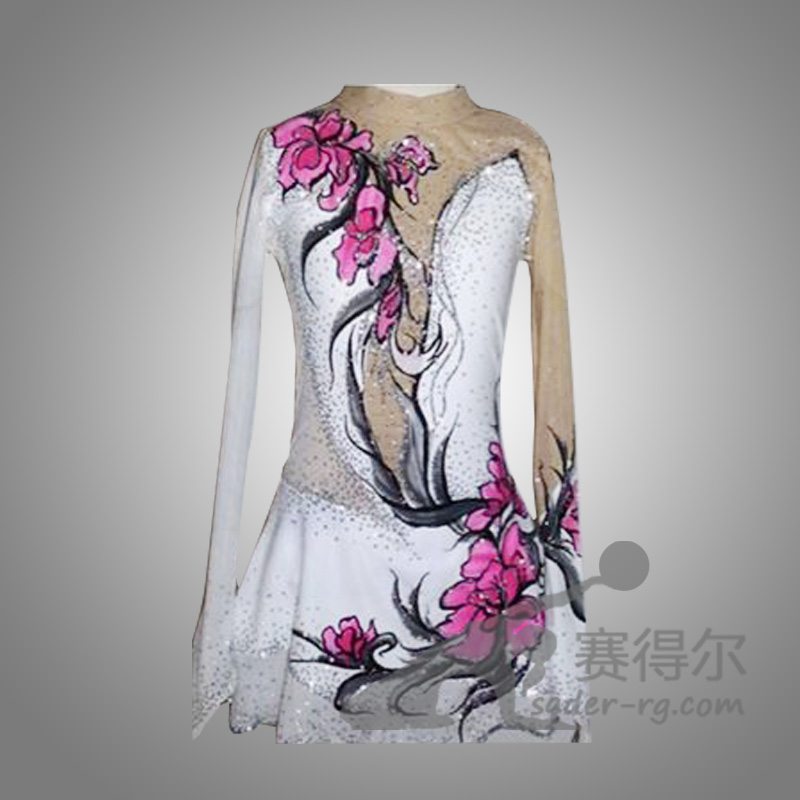 expensive figure skating dress for women competition ice skating dresses custom ice clothing free shipping long sleeves
