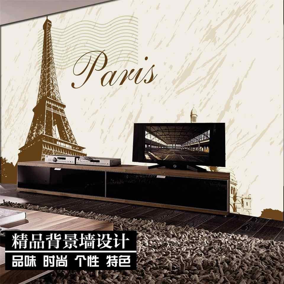 3D Wallpaper Custom Ukuran Foto Wallpaper Menara Eiffel Paris Gambar Sofa Ruang Tamu TV Latar Belakang Dinding Mural Kertas Untuk Dinding 3D