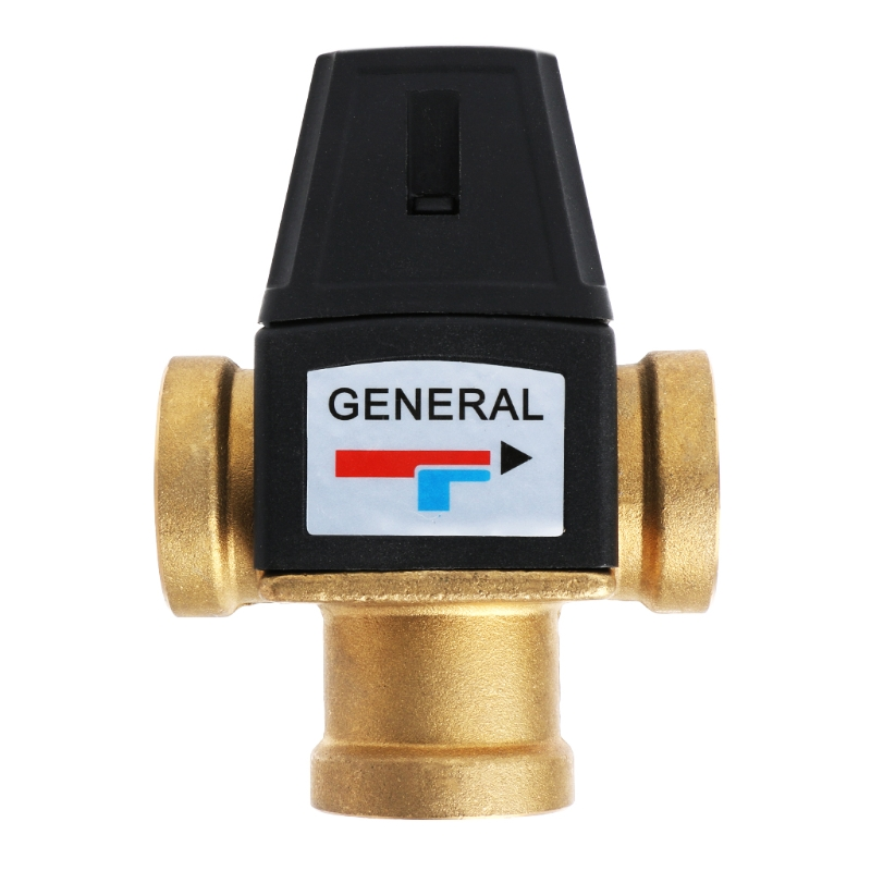 "DN20/DN25 Solar Water Heater Valve 3-Way Thermostatic Mixer Valve 3/4"" 1"" 3 Way Brass Male Thread Thermostatic Mixing Valve"