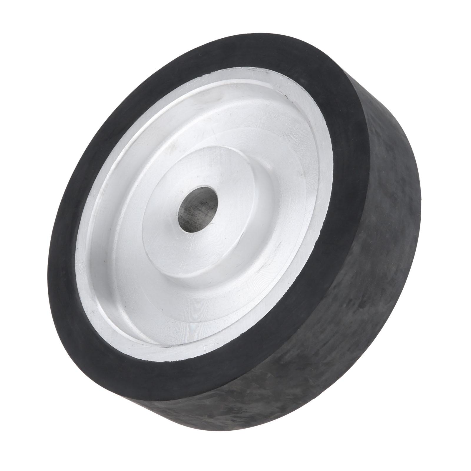 DRELD 200*50mm Solid Rubber Contact Wheel For Belt Grinder Sander Polishing Sanding Chamfering Grinding Wheel Abrasive Belt
