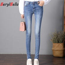 New Jeans For Women Jeans With High Waist Jeans Woman High Elastic Plus Size Women Jeans Femme Washed Casual Skinny Pencil Pants fashion s xxl autumn high waist jeans high elastic plus size women jeans woman femme washed casual skinny pencil denim pants