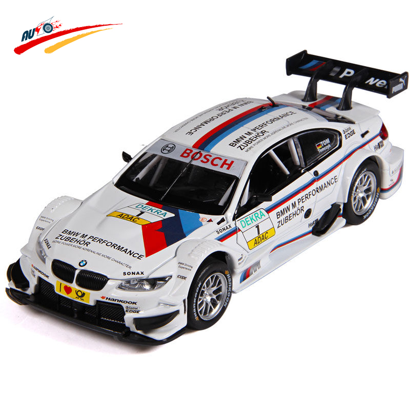 Alloy Diecast for M3 DTM 1:32 Racing Car Model Collection Pull Back Vehicle with Sound&Light Hobby Toy Gift for Kids Children