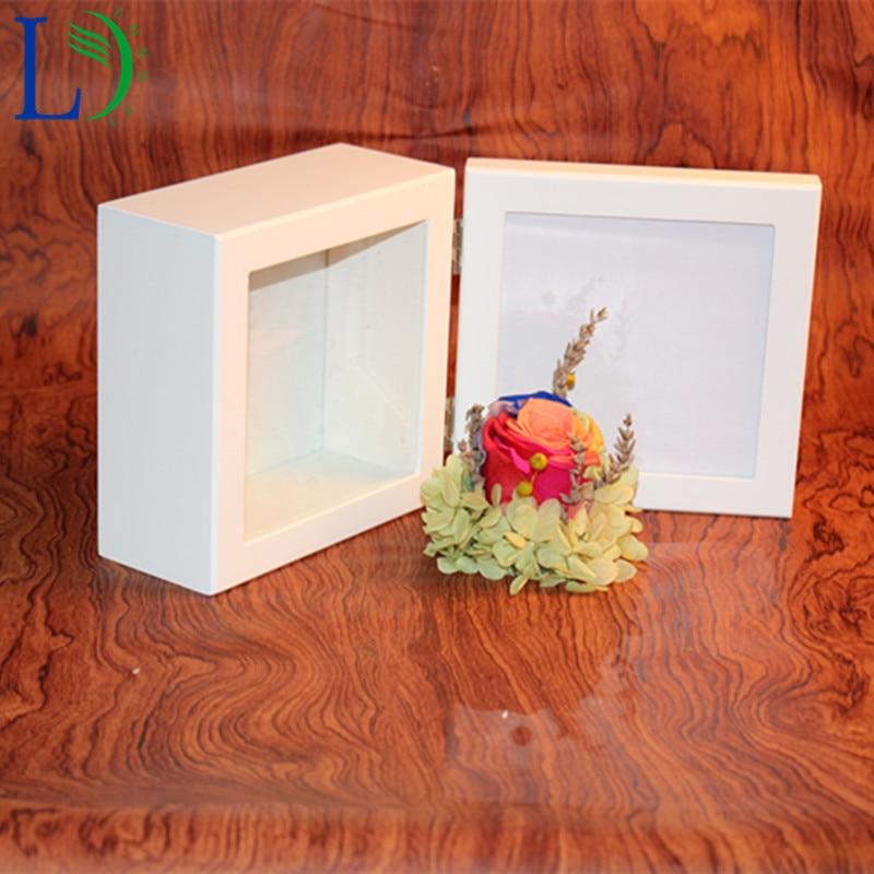 Wedding Preservation Boxes: Square Wooden Storage Box Phote Frame Wood Wedding Gift
