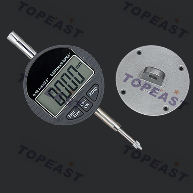 Precision 0.001mm Micrometer 0.00005 Digital Dial Indicator Range 0-12.7mm/0.5 Electronic Dial Indicator Gauge With Retail Box 0 001mm 00005 digital indicator range 0 25 4mm 1 gauge