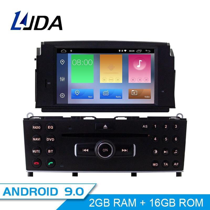 LJDA 1 Din Android 9.0 Car DVD Player For Mercedes Benz C200 C180 W204 2007-2010 WIFI Car Multimedia Player GPS Navi Car Radio