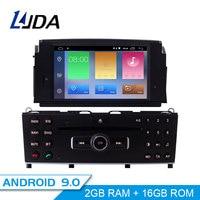 LJDA 1 Din Android 9.0 Car DVD Player For Mercedes Benz C200 C180 W204 2007 2010 WIFI Car Multimedia Player GPS Navi Car Radio