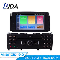 LJDA 1 Din Android 9.0 Car DVD Player For Mercedes Benz C200 C180 W204 2007 2010 WIFI Car Multimedia Player GPS Navi Car Radio