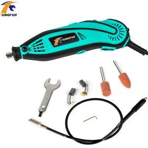 Image 5 - Tungfull elektrikli matkap Mini parlatma makinesi döner öğütücü aracı Mini matkap değişken hız döner güç aracı elektrikli gravür