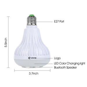 Image 5 - VONTAR E27 B22 Wireless Bluetooth Speaker+12W RGB Bulb LED Lamp 110V 220V Smart Led Light Music Player Audio with Remote Control