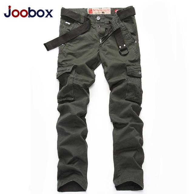 JOOBOX Marca Mens Jadean 100% Pantalones de Algodón Casual Hombres Ropa Militar Verde Del Ejército Mens Joggers Pantalones de Ocio Más El tamaño