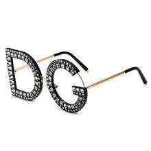 PAWXFB 2019 New Clear lens Diamond Oversized Square glasses Women Men High quality Optical Luxury Eyeglasses Lentes