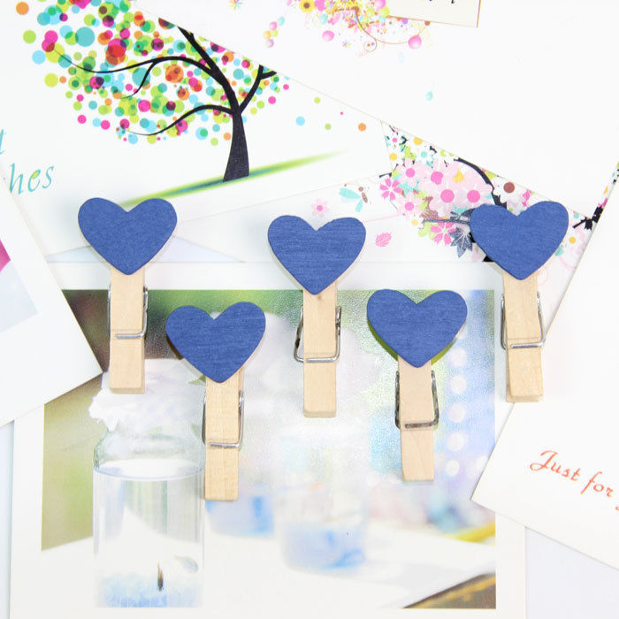 2017 High Quality New Mini Heart Wooden Peg Clip Kids Crafts Party Favor Supply 3.5*0.5 cm 50pcs/lot H0833F3x5