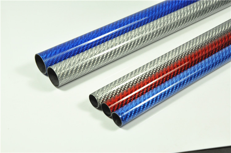 2pcs 3K Multicolour Carbon Fiber Tube For RC Airplane Glossy Surface Length 500mm 10mm 12mm 14mm 16mm 23mm 24mm 100mmx250mmx0 3mm 100% rc carbon fiber plate panel sheet 3k plain weave glossy hot