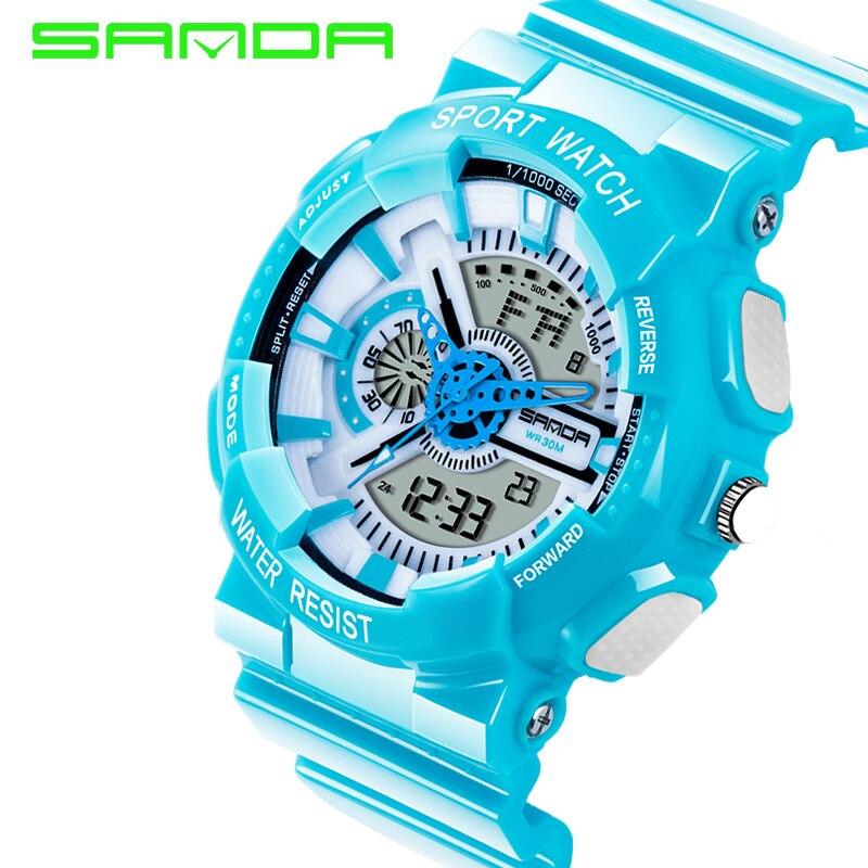 2018 New Hot Sale New Brand Sanda Fashion Men Style Waterproof Sports  Military Watch S Shock Luxury Analog Led Quartz Digital -in Digital Watches  from ... 0dc67018b5