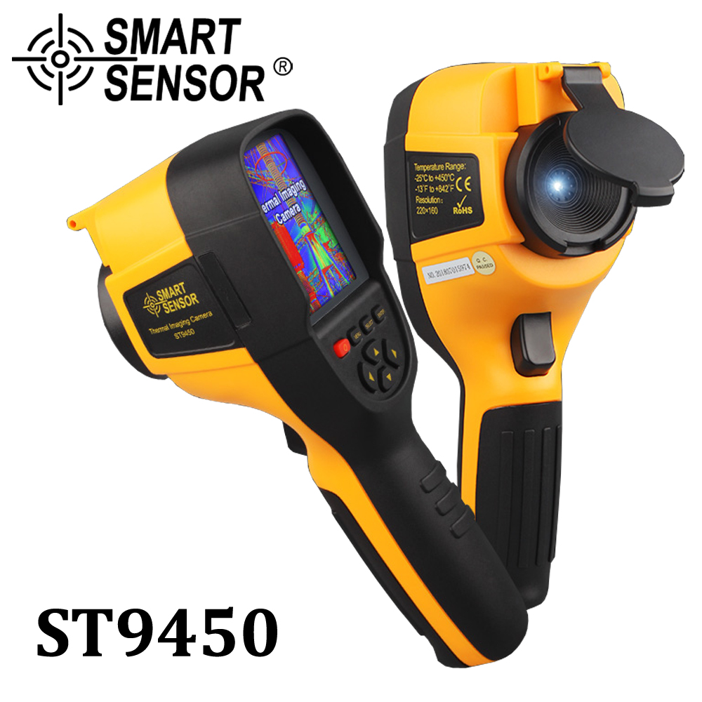 Professional Handheld Infrared Thermal Imager IR Digital Thermal Imaging Camera infrared thermometer Detector 300,000 pixels professional handheld thermal imaging camera ht 04 portable infrared thermometer ir thermal imager infrared imaging device