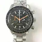 Хронограф светящийся Часы мужские 42 мм Япония miyota OS20 Move Мужские t кварцевые часы с ремешком из стали браслет черный ободок водонепроницаемы...