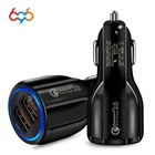 696 Quick Charge 3.0 Car Charger For Mobile Phone Dual Usb Car Charger Qualcomm Qc 3.0 Fast Charging Adapter Usb Car Charger