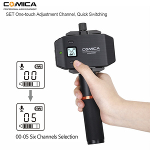 Image 3 - Wireless Smartphone Microphone System Comica CVM WS50(H) 6 Channels Handheld Microphone for iPhone Samsung Huawei Mobile Phones
