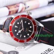 41 MM Corgeut Relojes Negro Dial Luminoso Marks 20ATM Automático Para Hombre Reloj Relogio masculino
