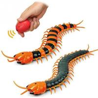 2019 Electric Novelty Fun Toy Infrared Radio Remote Control Machine Bionic Centipede Scolopendra Fake Insect RC Animal Toy Child