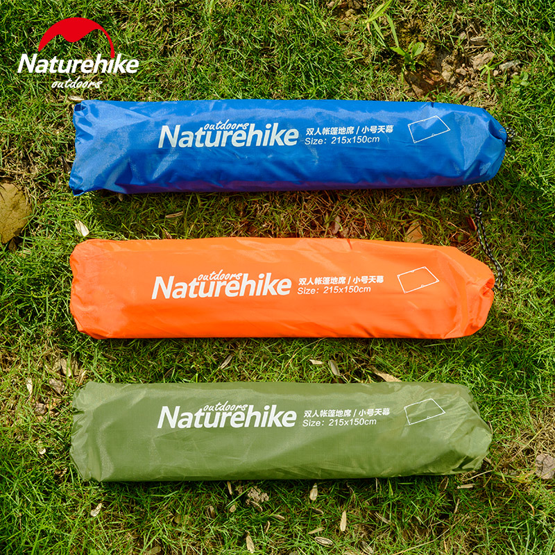 2.15 * 2.15M Naturehike Canopy Cloth Sun Sunlter Beach Shelter Awning Floor Camping Mat Վերմակ բարձի բարձի հետիոտն 6 արշավներ