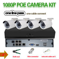 2.0MP Camera Set 4CH 1080P Full HD NVR Kit POE CCTV System Outdoor IP Camera Waterproof P2P Security Surveillance Set