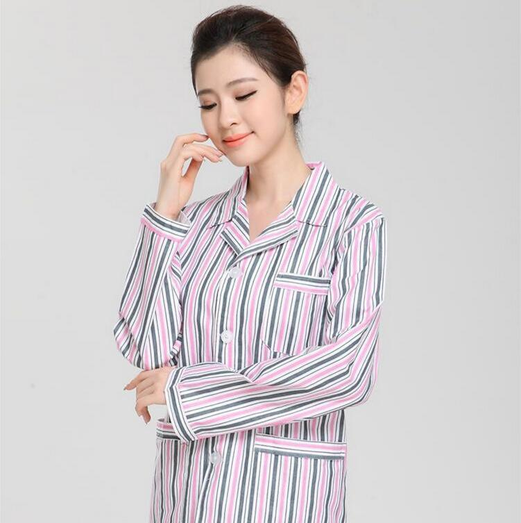 Cotton long sleeved gown dress can be customized service in hospital patient suits hospital