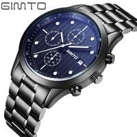 GIMTO Quartz Luxury Watch Men Famous Brand Men S Watches Men Sports Watches Fashion Stainless Steel