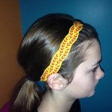 Плетеная спортивная повязка на голову, нескользящая стильная потная повязка на голову, софтбол