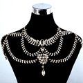 The New Original Design Romantic Bridal Sets Bride Rhinestone Chain Shoulder Wedding Dress Accessories Necklace Jewelry Set