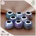 Venta de la Fábrica de buena Calidad Plata Completa CZ Piedras de Pavimentación 100% 925 Real perlas de Bolas de Plata Encanto Ajustados Famosos de Europa Pulsera