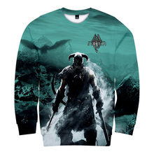 The Elder Scrolls 3D Print Autumn Sweatshirt Round Collar High Street Sweatshirt Fashion Oversize Pullover Casual High Quality(China)