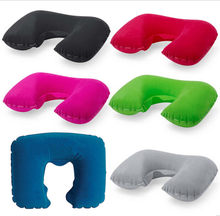 U-miss Functional Inflatable Neck Pillow Inflatable U Shaped Travel Pillow Car Head Neck Rest Air Cushion for Travel Neck Pillow(China)