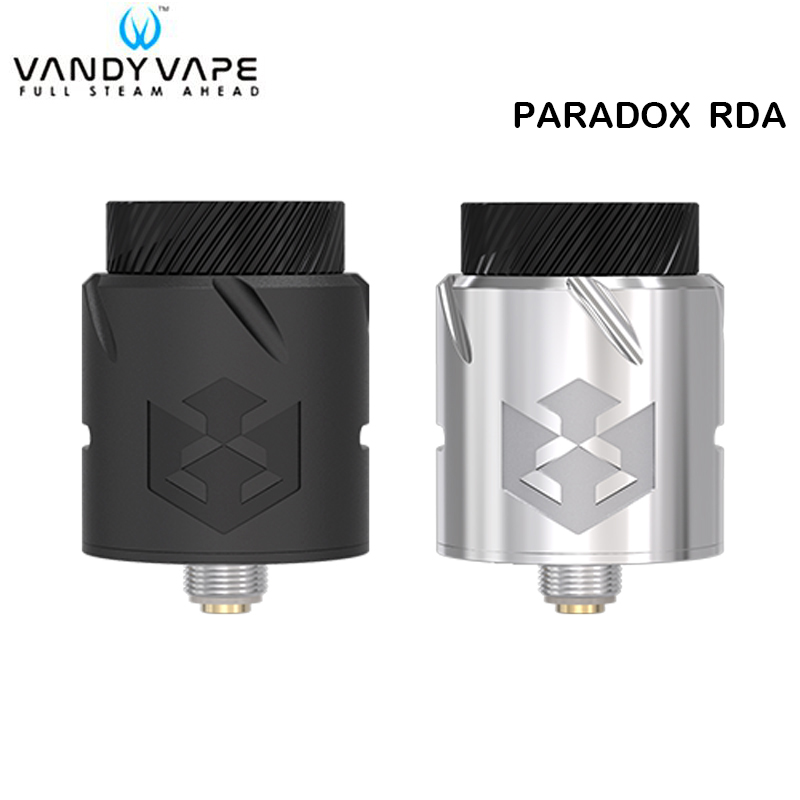 цена Original Vandy Vape Paradox RDA Tank 1.5ml with 510/810/PEI Drip Tip VandyVape DIY RDA Atomizer for E Cigarette Box Vape