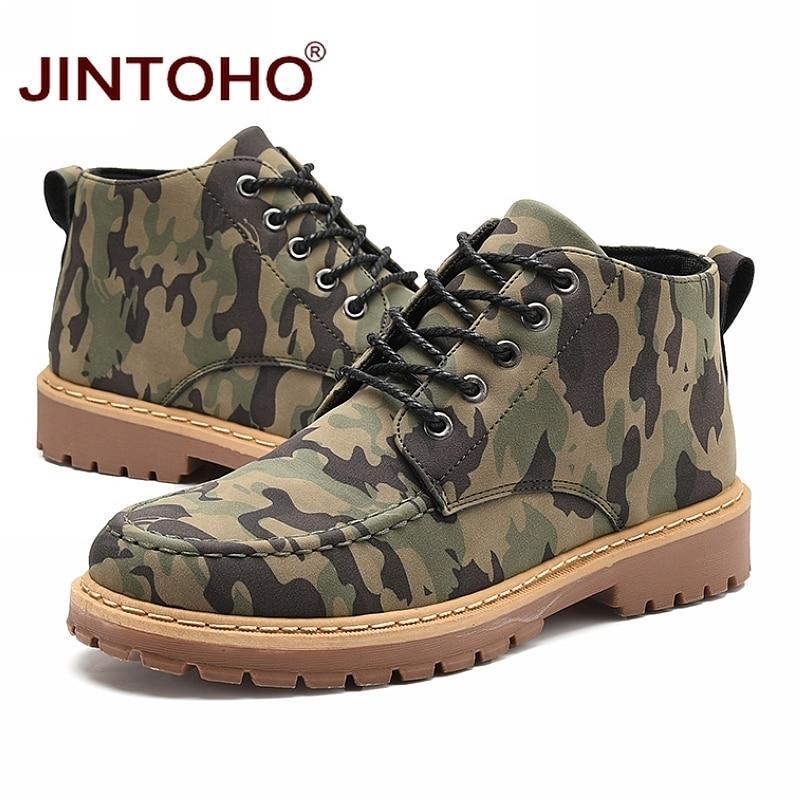 Mâle Chaussures Hommes Bottes Jintoho Casual Mode Sécurité De Cher green En Cuir D'hiver Et Marque Pas Hiver Travail Gray KJFlcT13