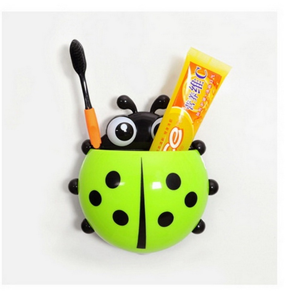 1 piece Kids Lovely Animal Ladybug Toothbrush Wall Suction